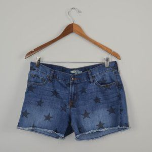 Old Navy Raw Hem Star Jean Shorts